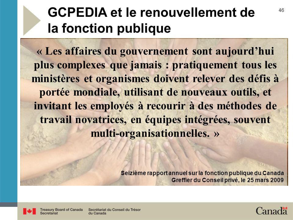 GCPEDIA et le renouvellement de la fonction publique