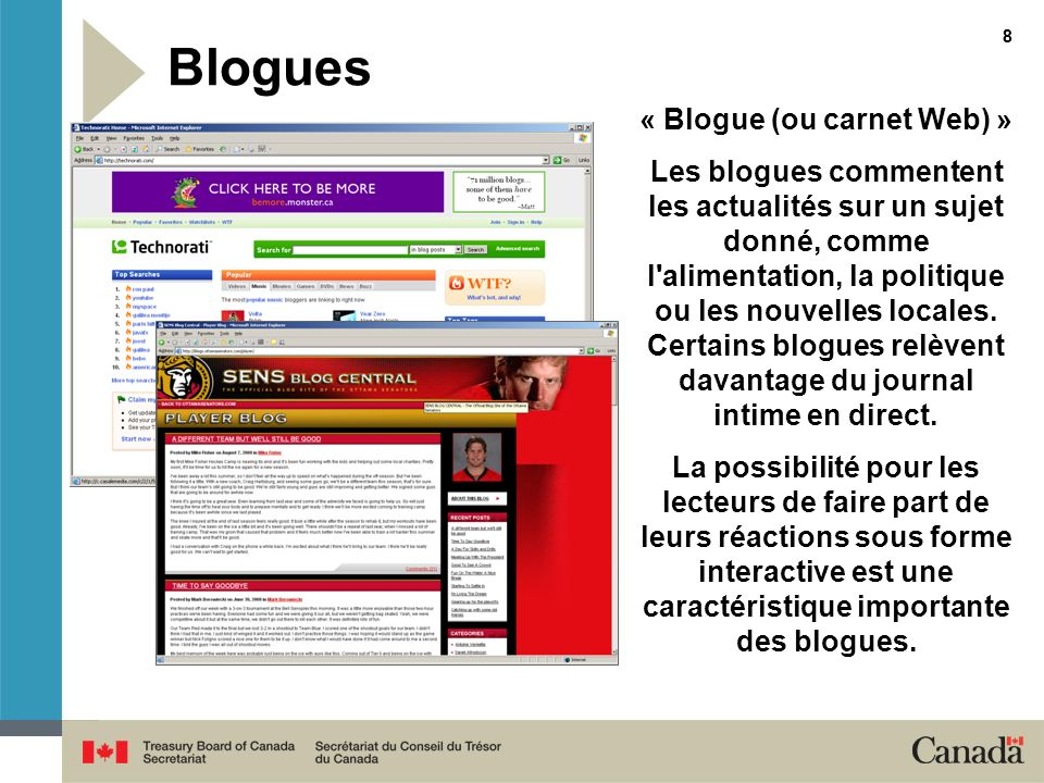 « Blogue (ou carnet Web) »