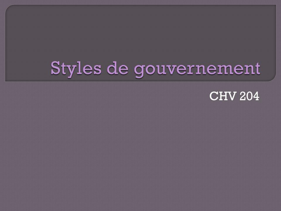 Styles de gouvernement