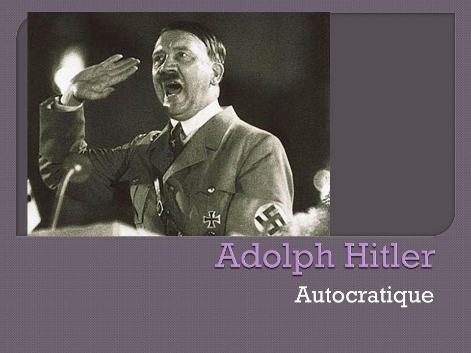 Adolph Hitler Autocratique