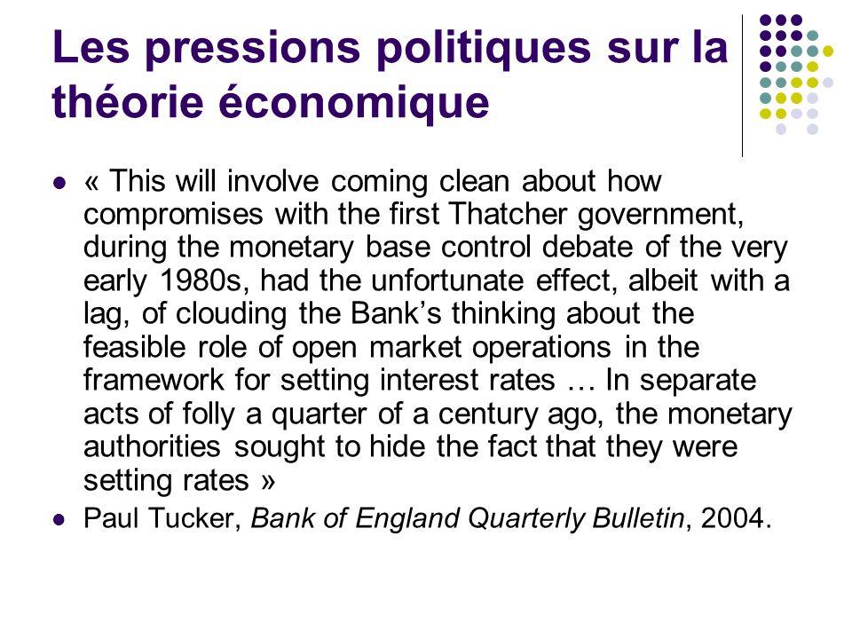 Les pressions politiques sur la théorie économique