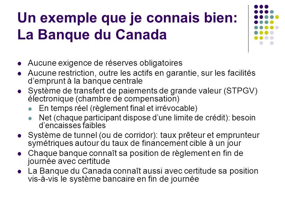 Un exemple que je connais bien: La Banque du Canada