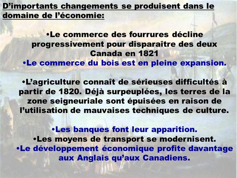 D'importants changements se produisent dans le domaine de l'économie: