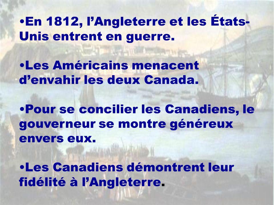 En 1812, l'Angleterre et les États-Unis entrent en guerre.