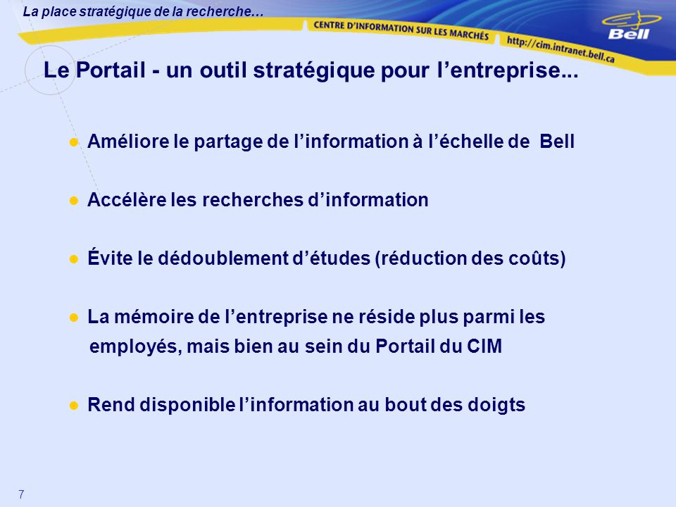 Le Portail - un outil stratégique pour l'entreprise...