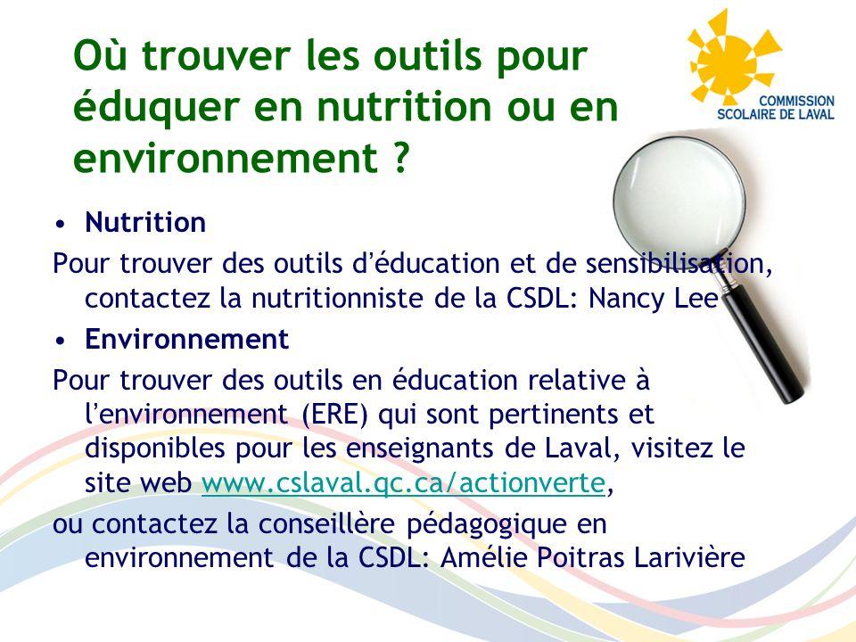 Où trouver les outils pour éduquer en nutrition ou en environnement