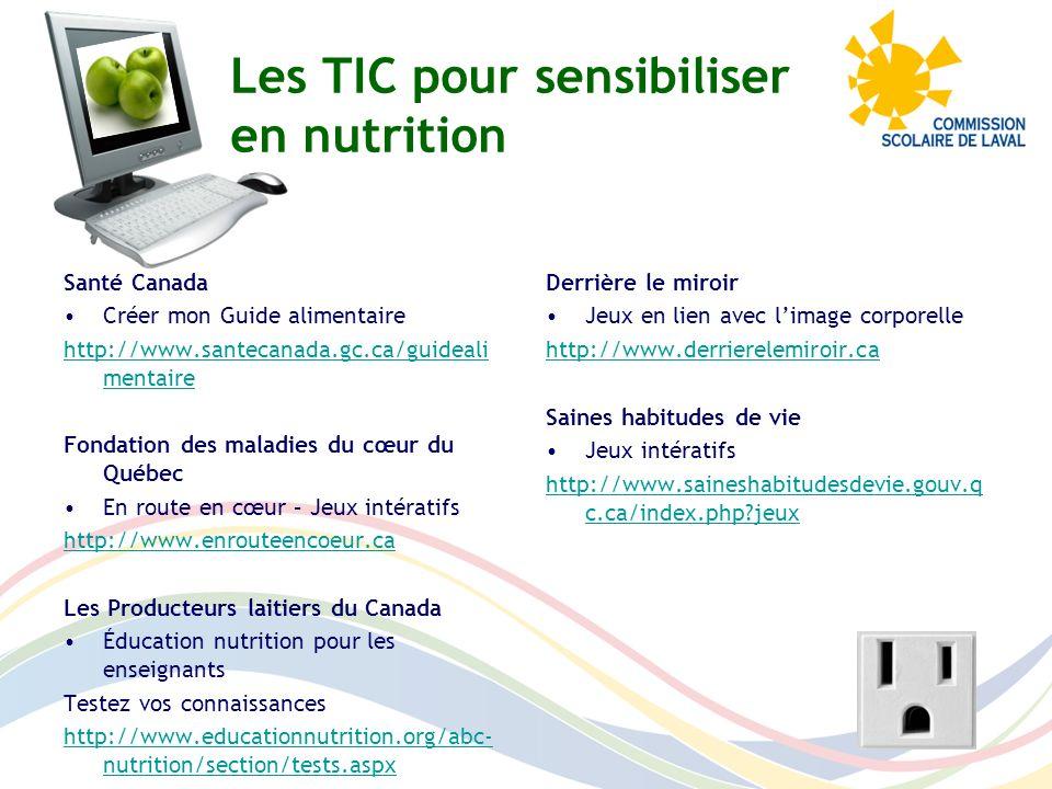 Les TIC pour sensibiliser en nutrition