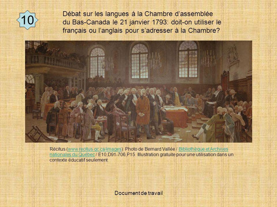 Débat sur les langues à la Chambre d'assemblée du Bas-Canada le 21 janvier 1793: doit-on utiliser le français ou l'anglais pour s'adresser à la Chambre