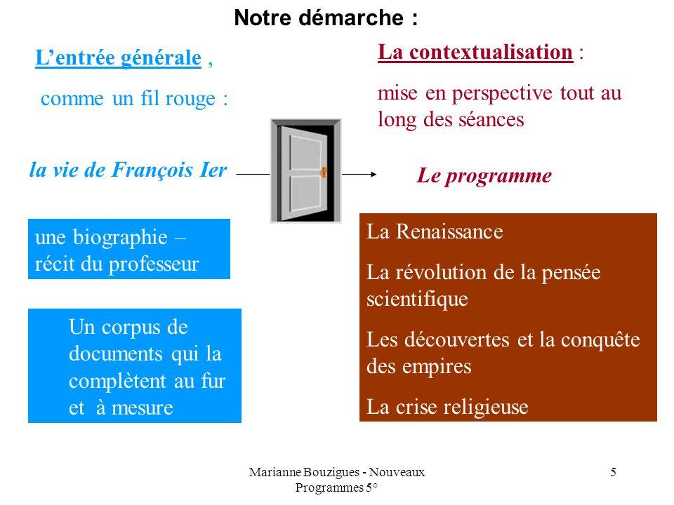 Marianne Bouzigues - Nouveaux Programmes 5°