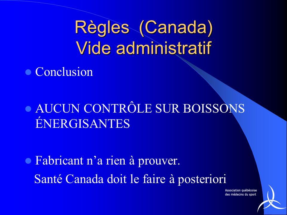 Règles (Canada) Vide administratif
