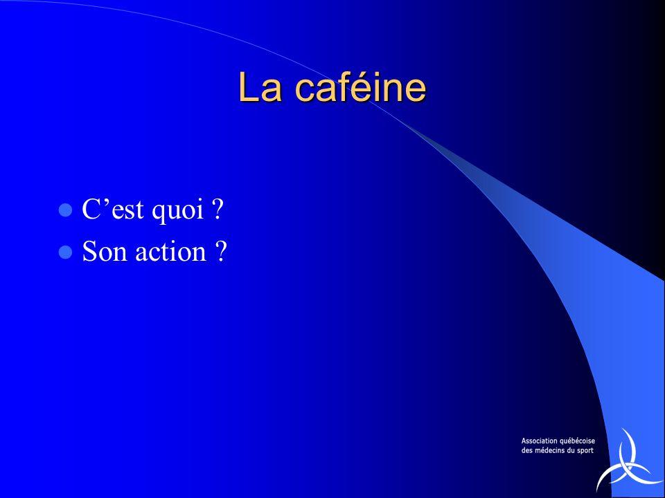 La caféine C'est quoi Son action