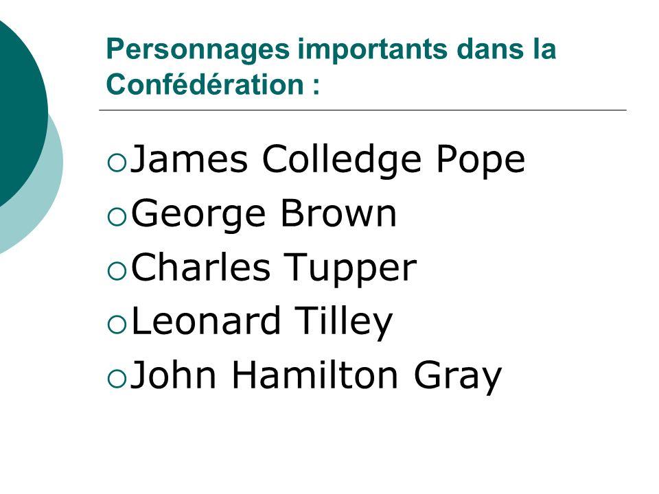 Personnages importants dans la Confédération :