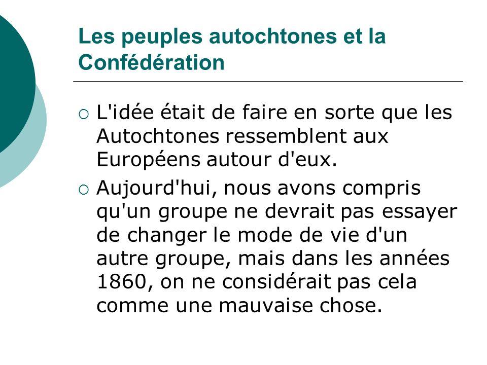 Les peuples autochtones et la Confédération