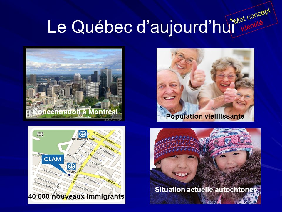 Le Québec d'aujourd'hui