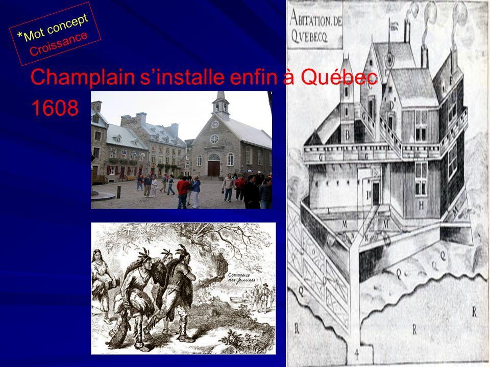 Champlain s'installe enfin à Québec 1608