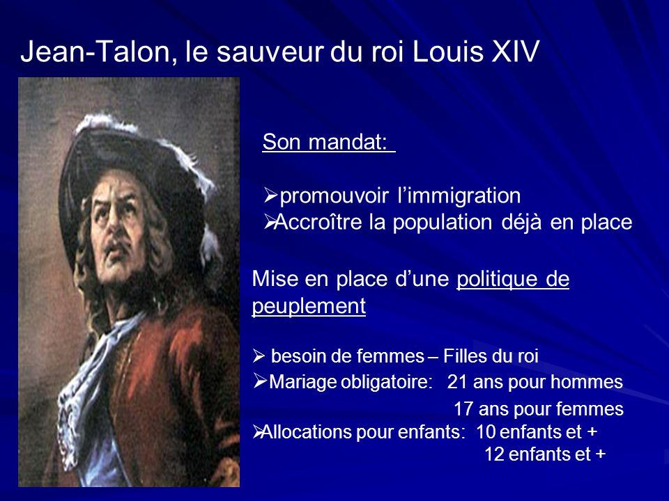 Jean-Talon, le sauveur du roi Louis XIV