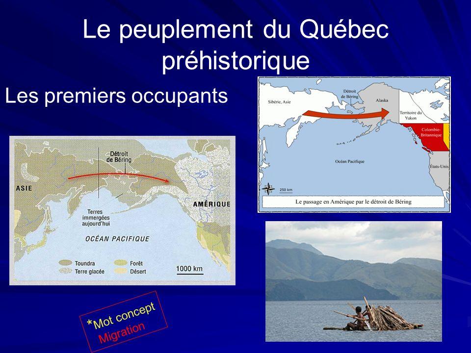 Le peuplement du Québec préhistorique