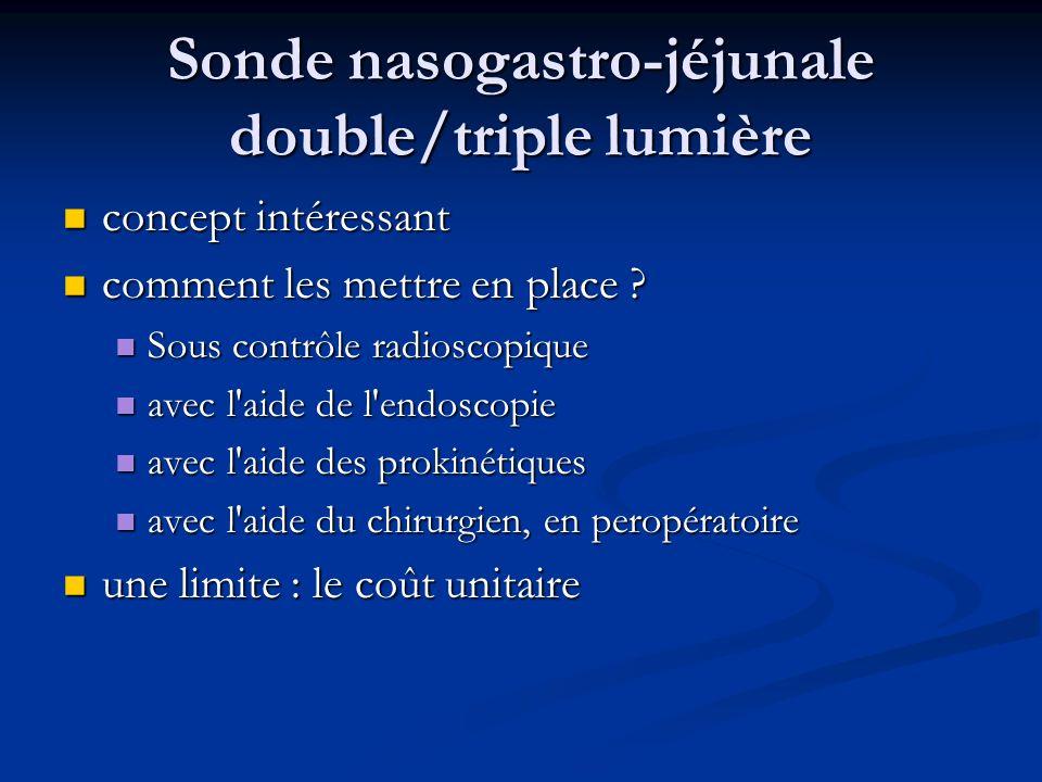 Sonde nasogastro-jéjunale double/triple lumière