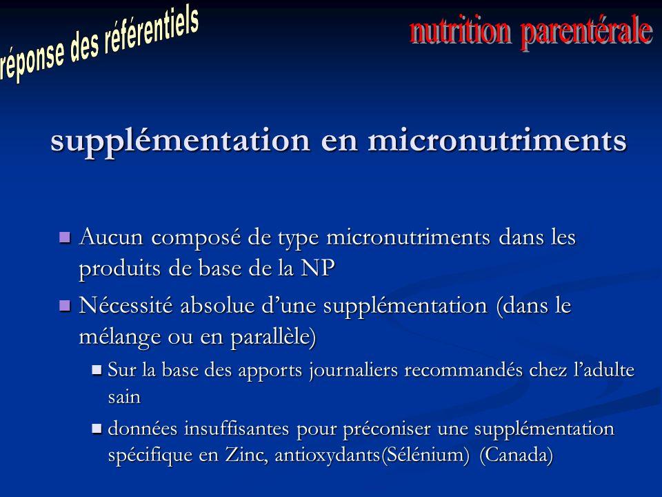 supplémentation en micronutriments