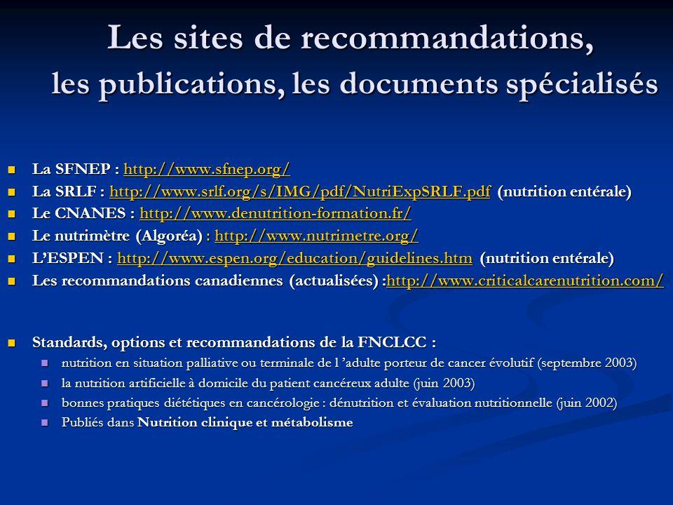 Les sites de recommandations, les publications, les documents spécialisés