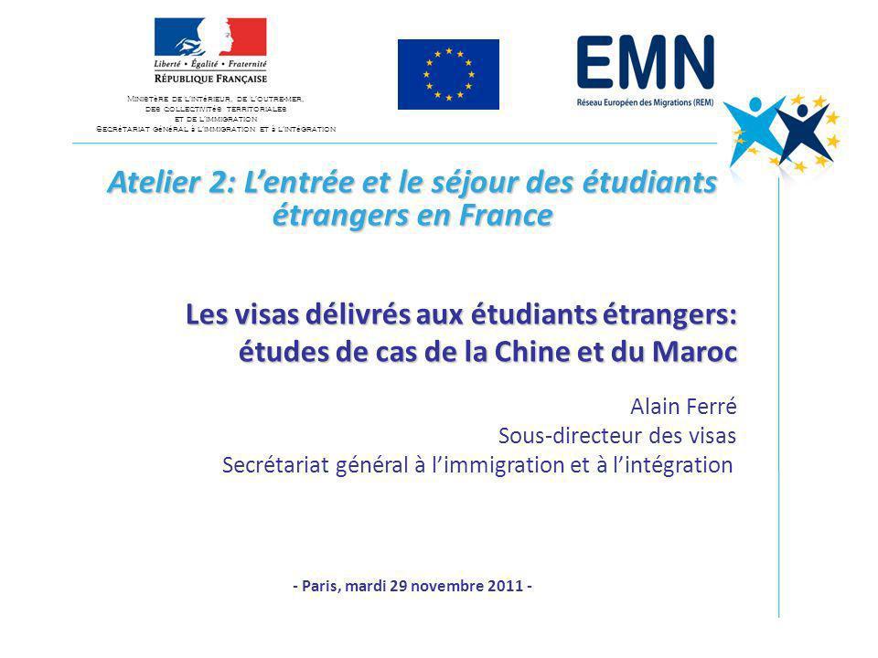 Atelier 2: L'entrée et le séjour des étudiants étrangers en France
