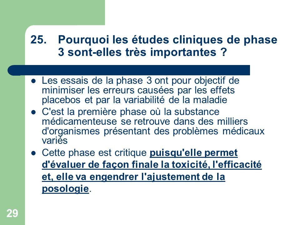 Pourquoi les études cliniques de phase 3 sont-elles très importantes