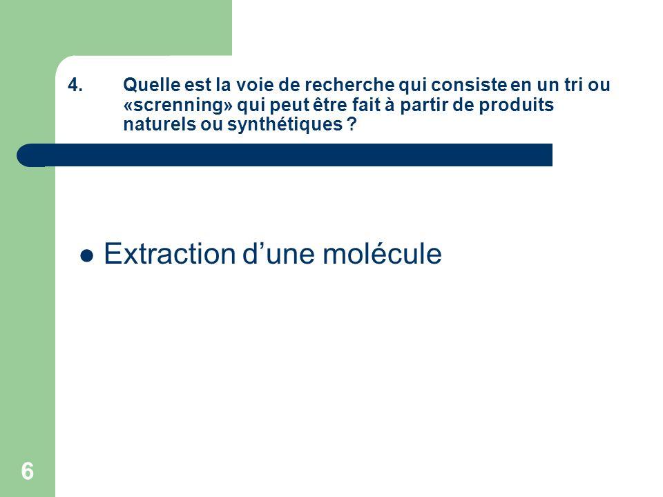 Extraction d'une molécule