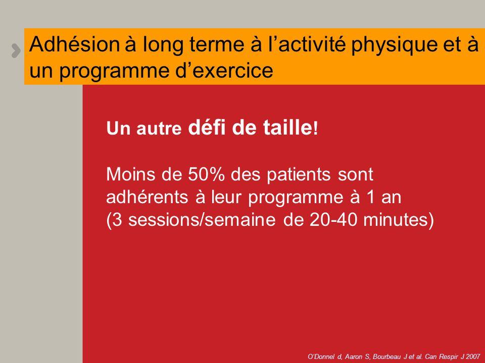 Adhésion à long terme à l'activité physique et à un programme d'exercice