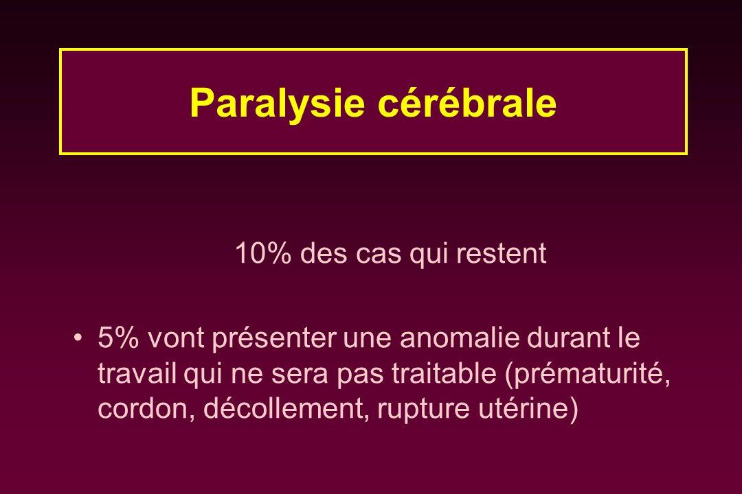 Paralysie cérébrale 10% des cas qui restent