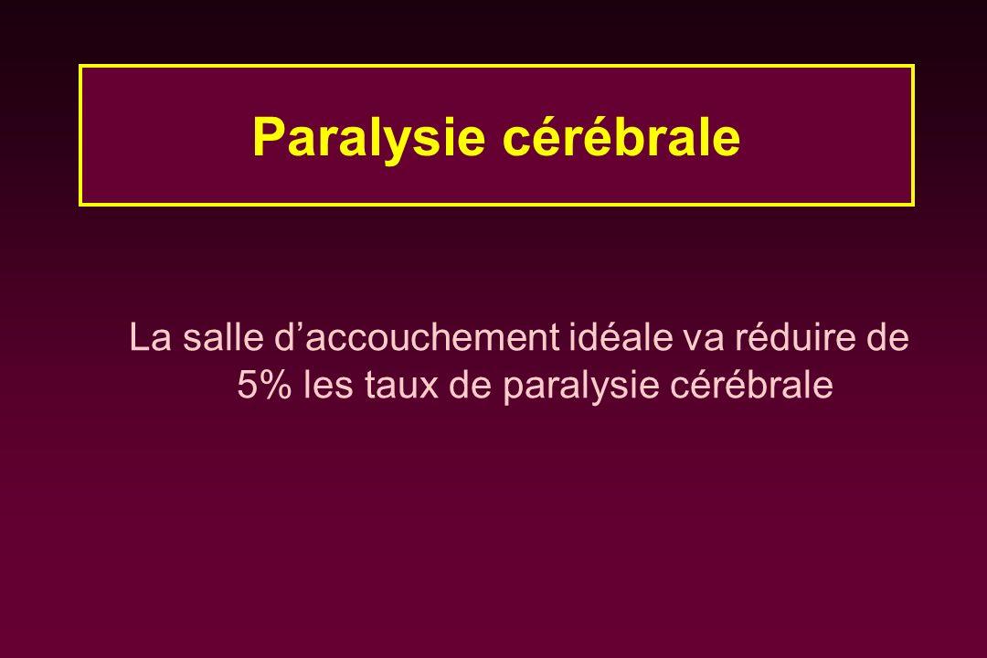 Paralysie cérébrale La salle d'accouchement idéale va réduire de 5% les taux de paralysie cérébrale