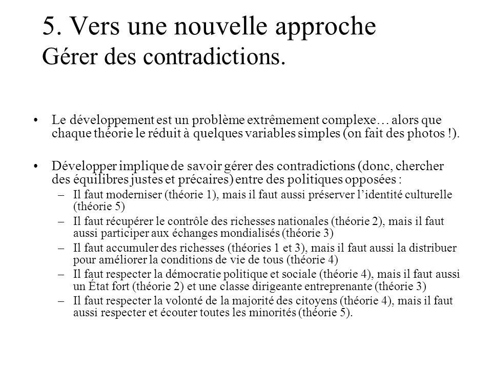 5. Vers une nouvelle approche Gérer des contradictions.