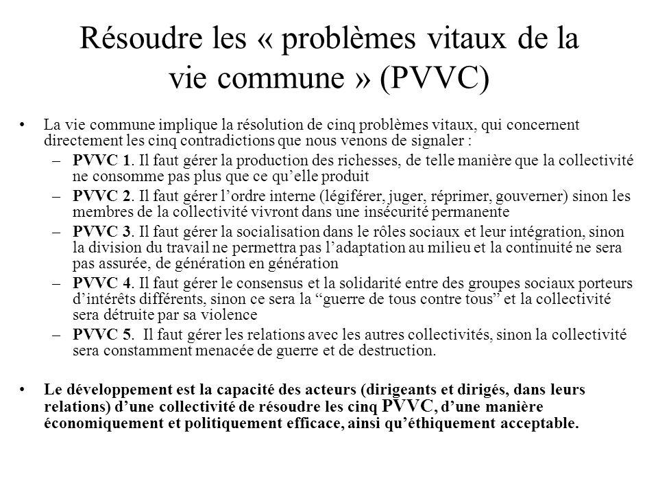 Résoudre les « problèmes vitaux de la vie commune » (PVVC)