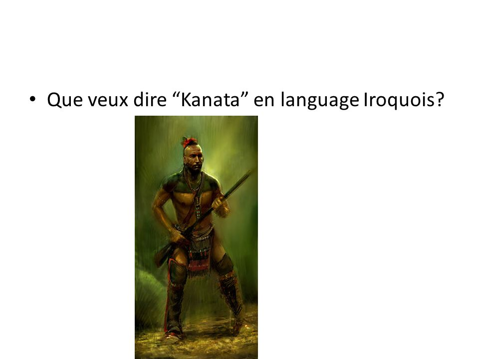 Que veux dire Kanata en language Iroquois