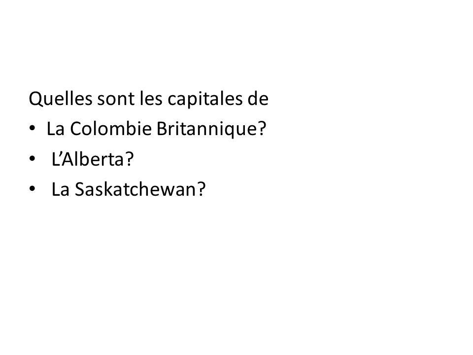 Quelles sont les capitales de