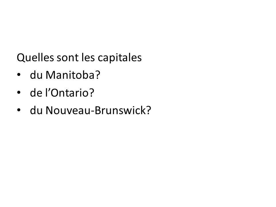 Quelles sont les capitales