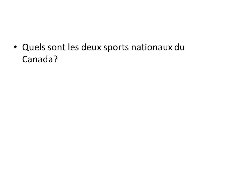 Quels sont les deux sports nationaux du Canada
