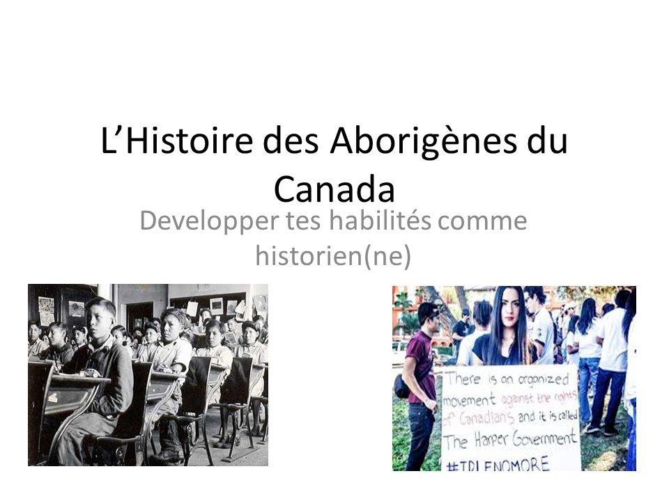 L'Histoire des Aborigènes du Canada