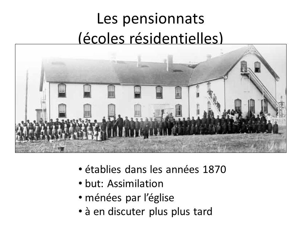Les pensionnats (écoles résidentielles)