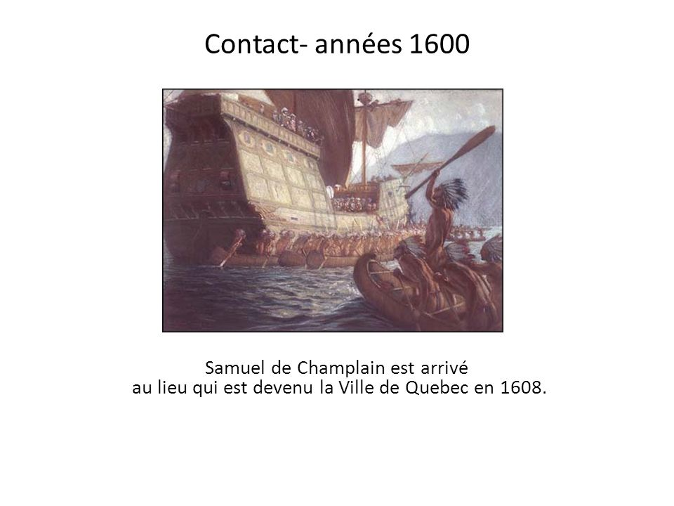 Contact- années 1600