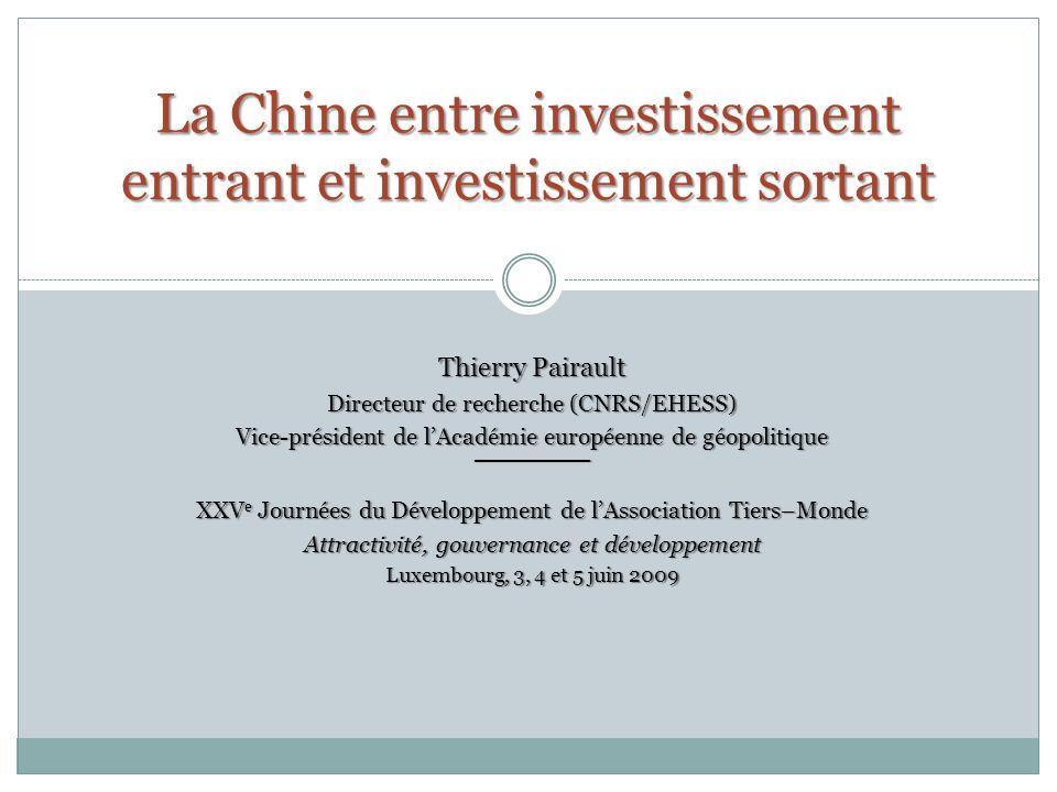 La Chine entre investissement entrant et investissement sortant