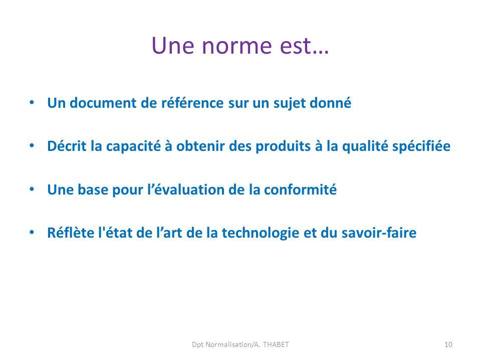 Dpt Normalisation/A. THABET