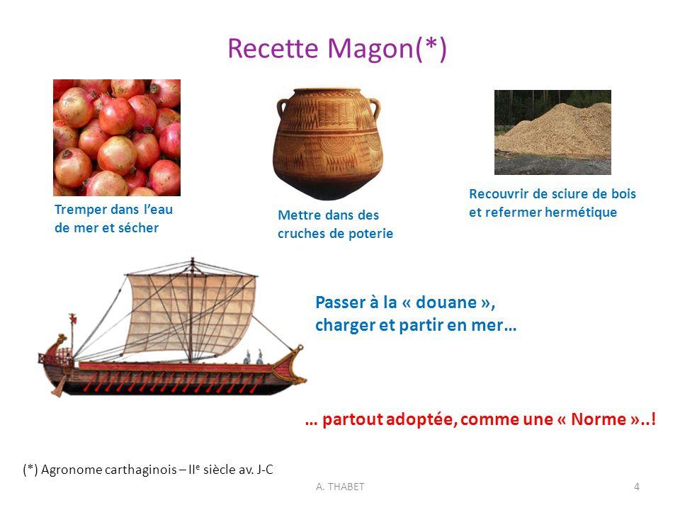 Recette Magon(*) Passer à la « douane », charger et partir en mer…