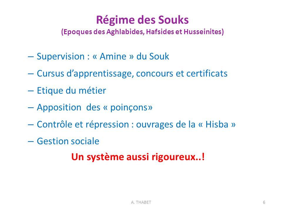Régime des Souks (Epoques des Aghlabides, Hafsides et Husseinites)