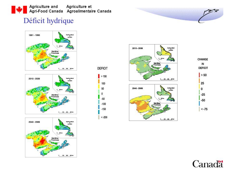 Déficit hydrique Newfoundland & Labrador = Terre-Neuve & Labrador