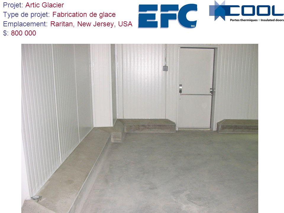 Projet: Artic Glacier Type de projet: Fabrication de glace. Emplacement: Raritan, New Jersey, USA.