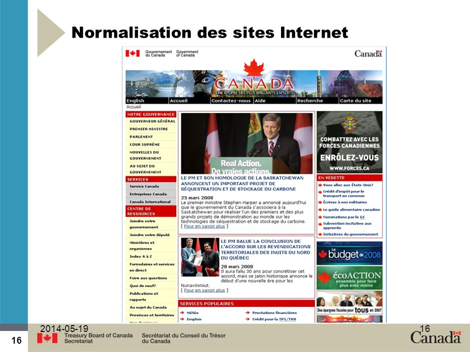 Normalisation des sites Internet