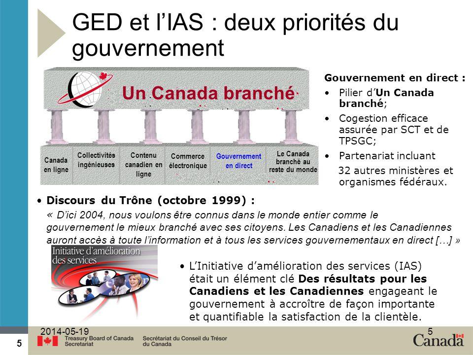 GED et l'IAS : deux priorités du gouvernement