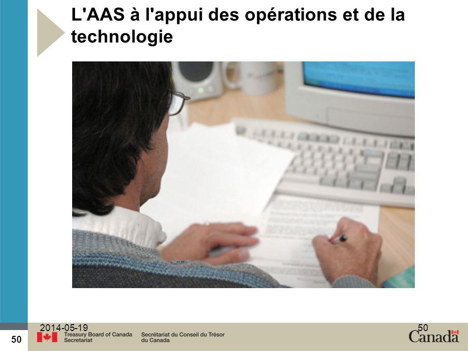 L AAS à l appui des opérations et de la technologie