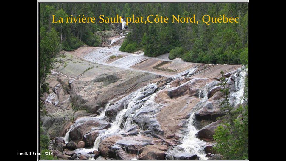 La rivière Sault plat,Côte Nord, Québec