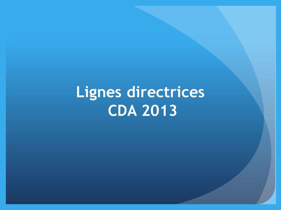 Lignes directrices CDA 2013